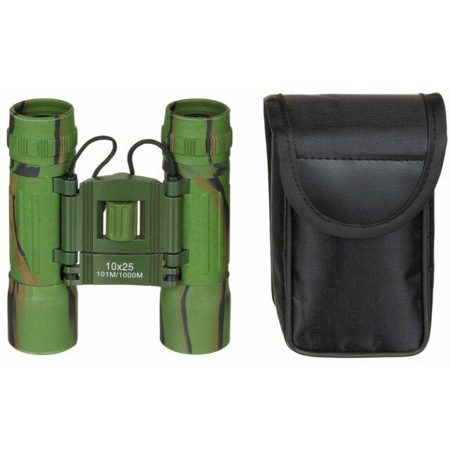 Mfh Binoculares Militar Plegable 10x25 Binocular