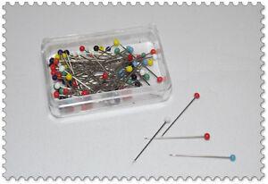 Stecknadeln Glaskopf 10g Länge: 32mm / nickelfrei rostfrei bügelfest / Nähen