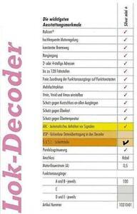 Lenz-10310-02-Decoder-Silver-mini-0-5-08A-mit-Kabel-Susi-Schnittstelle-Neu