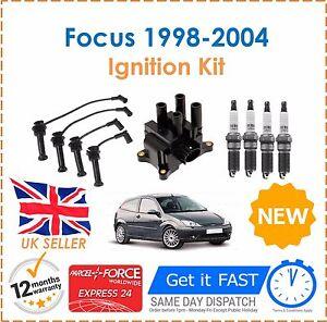 Para-Ford-Focus-1-6-1998-2004-De-Encendido-Bujias-Bobina-De-Encendido-Ht-Lidera-Set-Nuevo