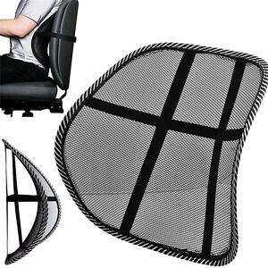 Image Is Loading MESH BACK SUPPORT LUMBAR LOWER CUSHION PAIN