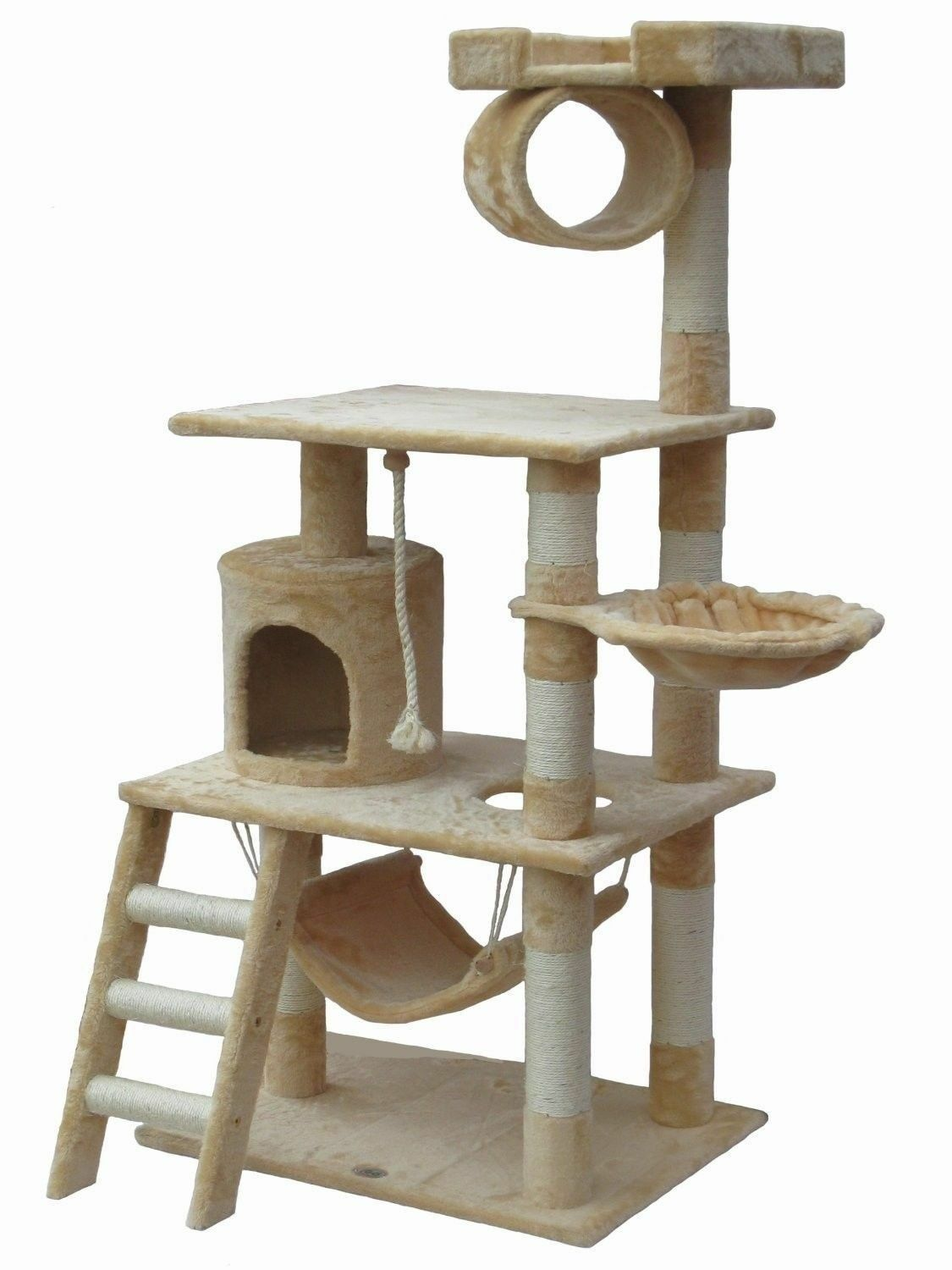 Large Cat Tree Condo House 62  Kitty Furniture Stand Play Post Scratchers Home