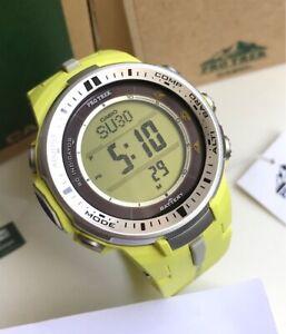 Casio-Pro-Trek-PRW3000-9B-Triple-Sensor-Ver-3-Tough-Solar-Multiband-6-Yellow