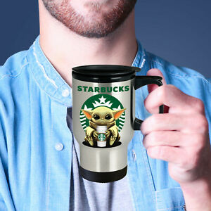 Baby Yoda STARBUCKS Cute Fun STARWARS YODA STARBUCKS Coffee Travel Mug