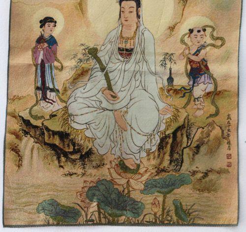 Tibet Collectable Silk Hand Painted  Painting Ksitigarbha Bodhisattva Thangka