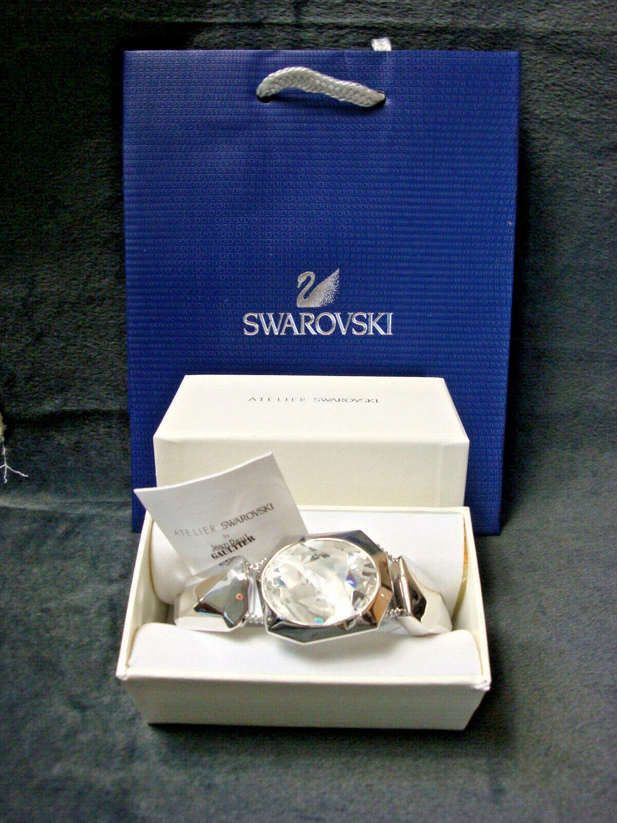 JEAN PAUL GAULTIER ATELIER SWAROVSKI Reverese Crystal Bracelet NEW IN BOX
