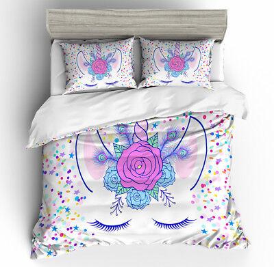 3D Dusk Mermaid Kids Bedding Set Duvet Cover Pillowcase Quilt//Comforter Cover