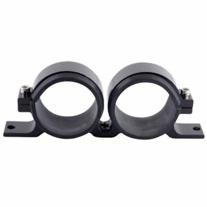 DUAL BLACK Fuel Pump Mounting Bracket Twin Filter Clamp Cradle  BOSCH 044 60mm
