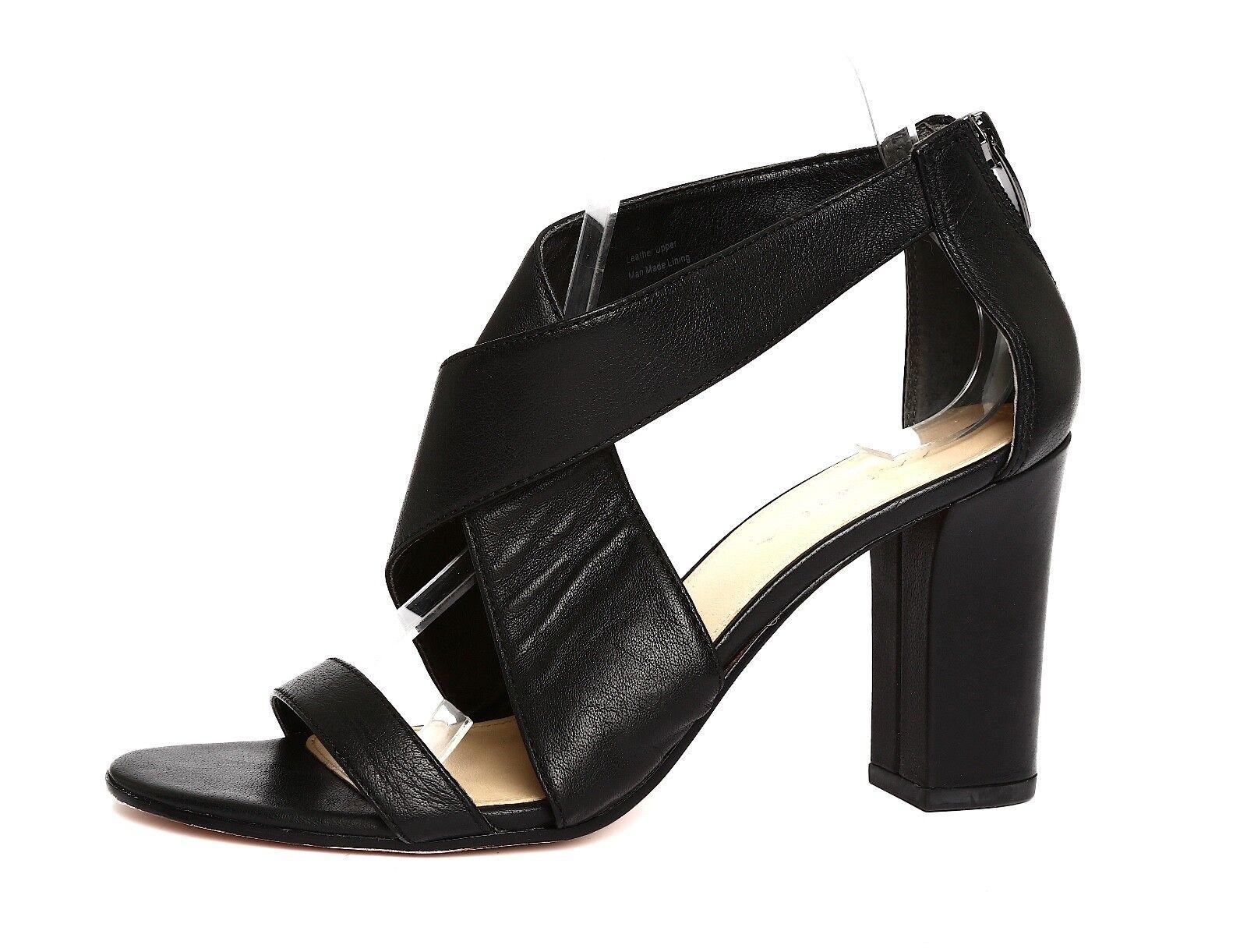 Via Spiga 7.5M Donna Nero Pelle High Heel Sandals Sz 7.5M Spiga 1349 29b07e