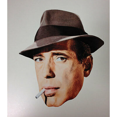Humphrey Bogart Single 2D Card Face Mask - Great for Hollywood Themed Parties