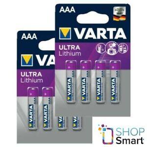 8 VARTA ULTRA LITHIUM BATTERIES AAA L92 R03 MICRO 6103 1.5V EXP 2033 NEW
