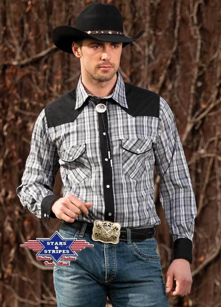 Westernhemd Cowboy Western Hemd  Brian  Gr. S-3XL