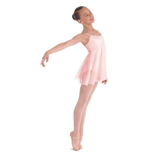 Pastel Pink Bloch Childrens Juliet Skirted Leotard Lyrical Dress Dance Costume