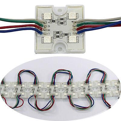 20pcs 4 LED RGB 5050 SMD Module Waterproof Light Lamp Strip DC 12V