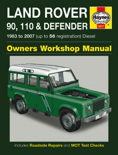 land rover 90 110 defender 1983 2007 haynes manual in good ebay rh ebay co uk land rover discovery td5 workshop manual land rover discovery td5 workshop manual