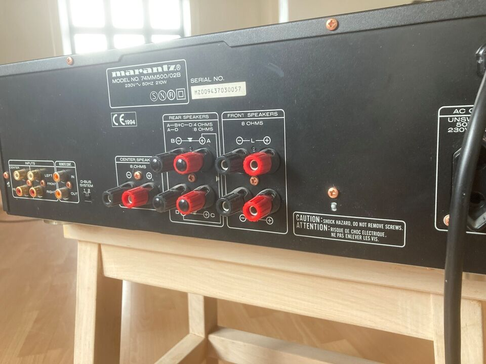 Effektforstærker, Marantz, MM500