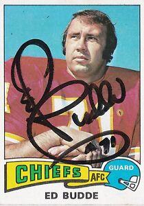 Ed Budde Autograph On A 1975 Topps - Kansas City Chiefs