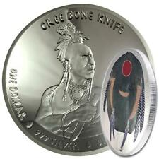 USA 1 Dollar 2019 Cree Bone Knife Native American Weapons (4.) 1 Oz Silber PP