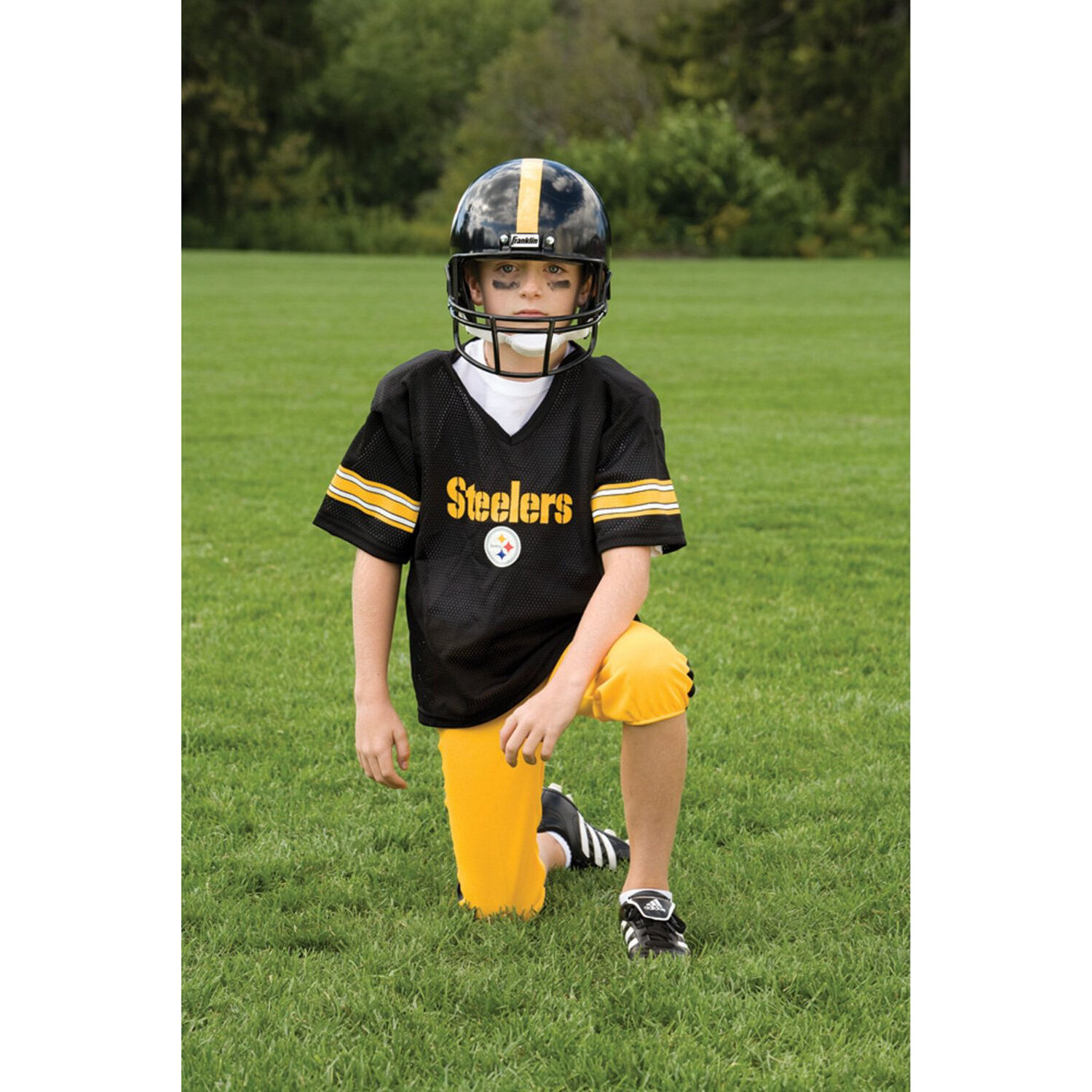 YOUTH små Pittsburgh Steelers NFL Uniforme SET Barn Game Day Costume Age 4-6