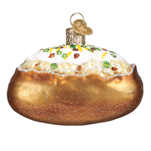 Old-World-Christmas-BAKED-POTATO-32344-X-Glass-Ornament-w-OWC-Box