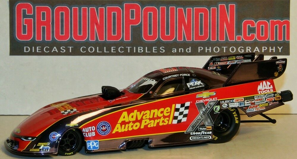 COLORCHROME 2017 Courtney Force ADVANCE AUTO PARTS NHRA Camaro Funny Car 1/156