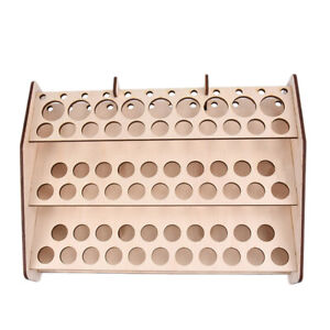 74-Hole-Wooden-Pigment-Bottle-Storage-Organizer-Color-Paint-Ink-Brush-Stand-W91