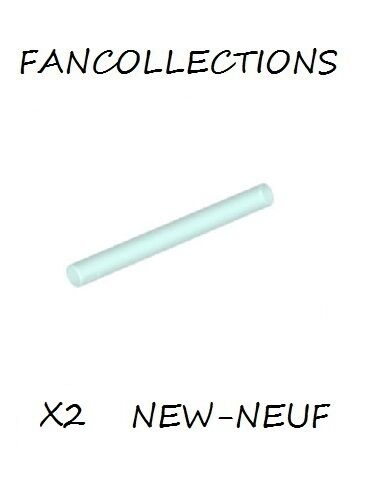 Lightsaber Blade // Wand - 30374 NEUF Lego x 2 Trans-Light Blue Bar 4L