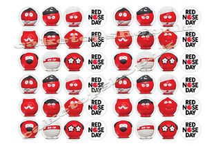 Red Nose Day Cake Toppers