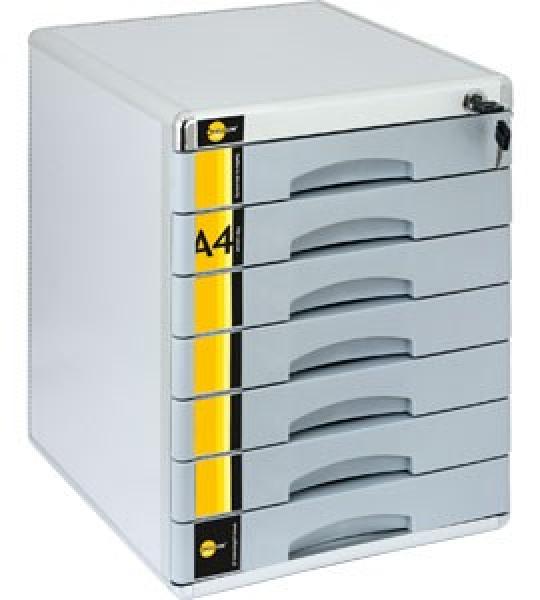 Schubladenbox ABSCHLIEßBAR mit Schloss Ablagebox Ablagebox Ablagebox mit 7 Schubladen Bürobox SM07 e5d006