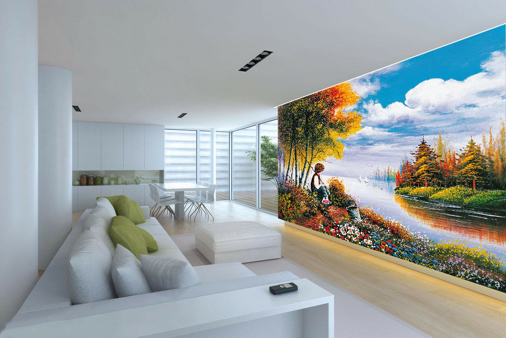 3D Landschaftsangeln 53 Tapete Tapeten Mauer Foto Familie Tapete Wandgemälde DE