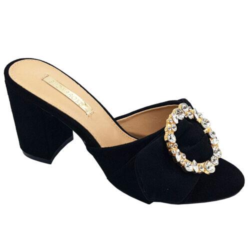 Footwear Sale Women smart shoes middle heel shoes dressing Mule open Toe Size
