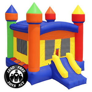 Commercial-Bounce-House-100-PVC-13-x-13-Inflatable-Castle-Jump-with-Blower