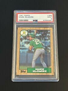 1987 Topps Mark McGwire #366 Oakland Athletics PSA 9 MINT Oakland Athletics