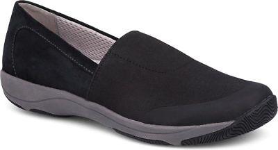 Women's Dansko Harriet Flat Stretch Suede Shoes Comfort Black Sz 37 38 Nib Comfort Shoes