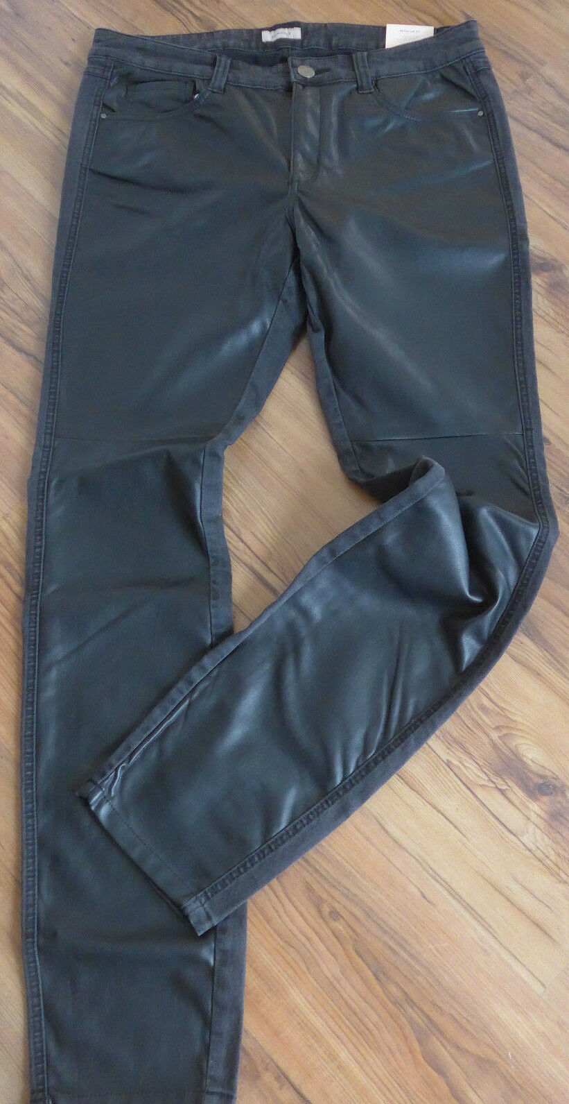 TRIANGLE by S.OLIVER Jeans Trousers Front Imitation Leather Size 42 - 46 (620)