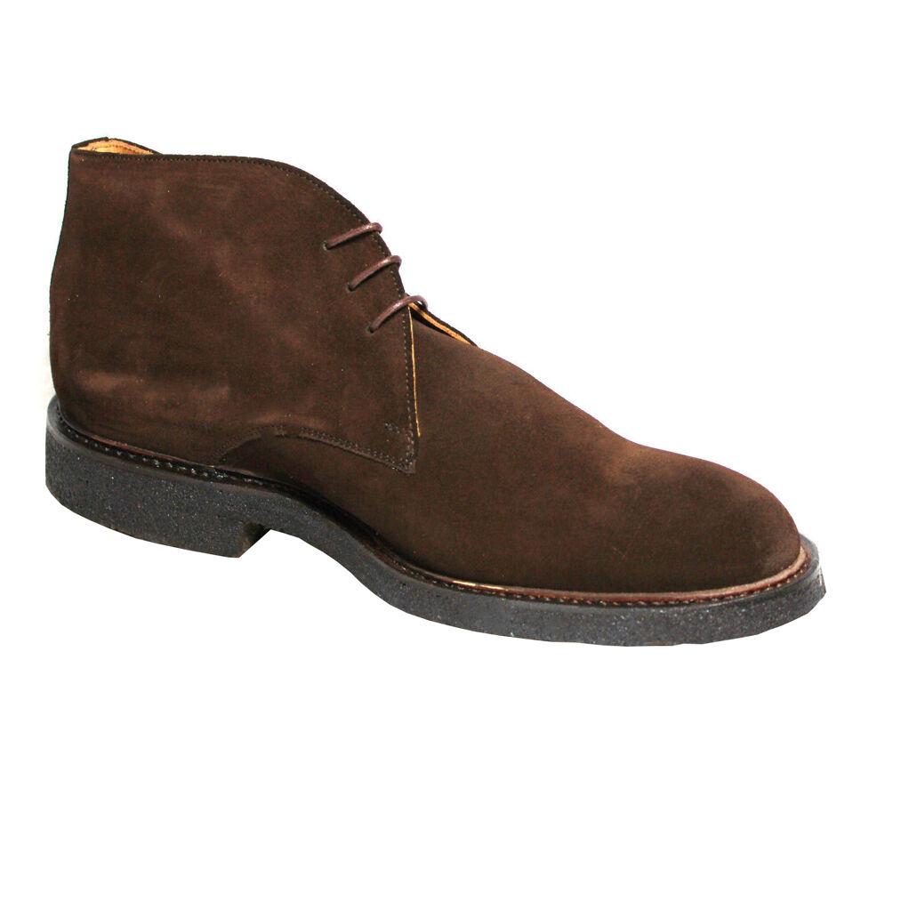 LOTUS OF ENGLBND Herren Schuhe Modell John 100% Gämse dunkelbraun