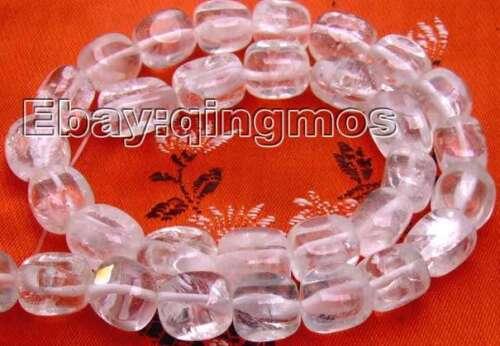 """12mm blanco natural de formato libre cuentas de cristal para joyería haciendo Hágalo usted mismo Strand 15/"""" l177"""