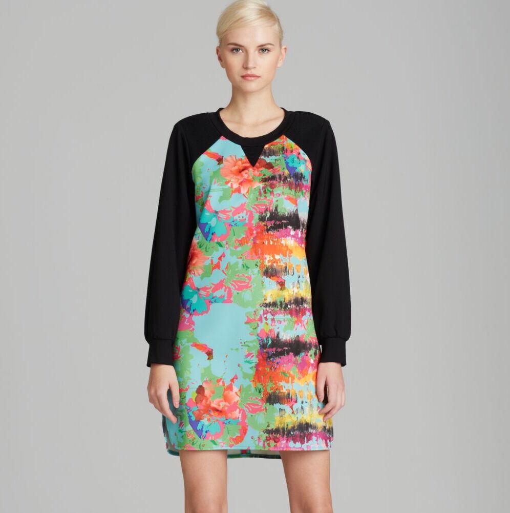 Milly Sweatshirt Dress in Tropical Print Size P XS