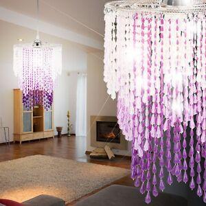 Kristall beleuchtung l ster h nge leuchte saal decken lampe kinderzimmer rosa ebay - Kinderzimmer beleuchtung ...