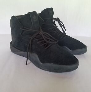 sports shoes dec3d 3938a Details about Adidas Tubular Instinct Lace Up Black Leather Suede Mens Hi  Trainers BB8931 8.5