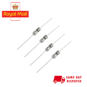 5 Pcs 6.3A Amp 250V 3.6mm x 10mm Slow Blow Axial Lead Tube Glass Fuses