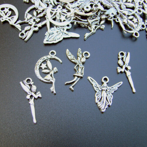 10 colgantes de joyas de plata colgante color hadas hada duendecillo Fairy-p00544x7-ei