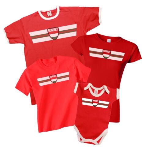 La Hongrie patriotique Fan Kit T-Shirt Choix de homme femme enfants Baby Grow *