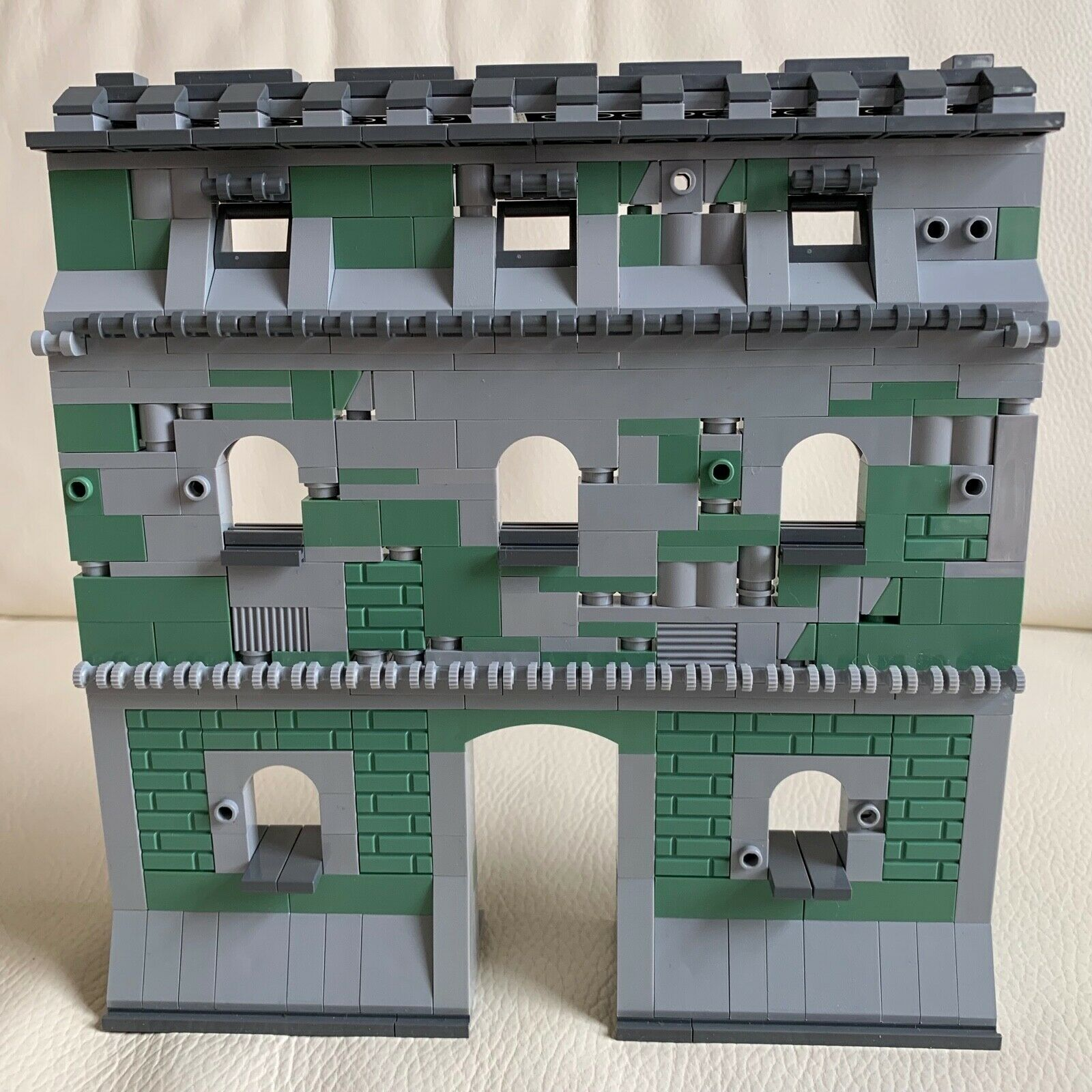 LEGO original parts German RUINS BUILDING playable solid DIORAMA my design 87