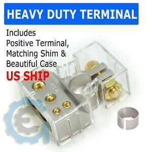New-Car-Battery-Terminal-Connector-Clamp-Clip-Negative-Positive-With-Shim