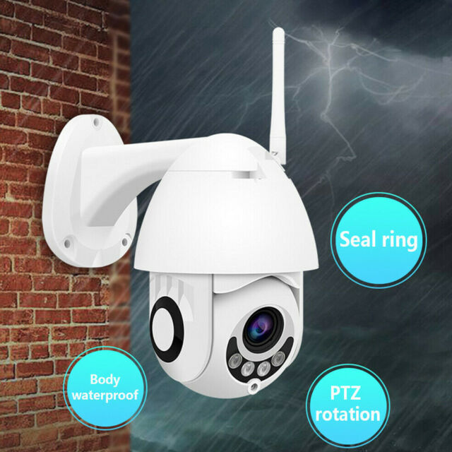 1080P WIFI IP Camera WHITE Wireless Outdoor Home Security IR Cam CCTV HD W0T2J