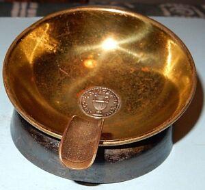 Vintage old Israeliana brass & bronze & silver Ashtray By Yizhak Bir Jerusalem