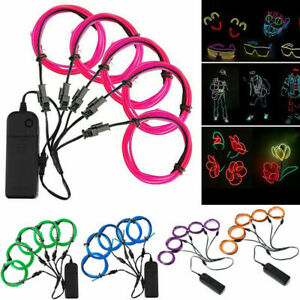 5x1m-Party-Neon-LED-Light-Glow-EL-Wire-String-Strip-Rope-Tube-Christmas-Gifts