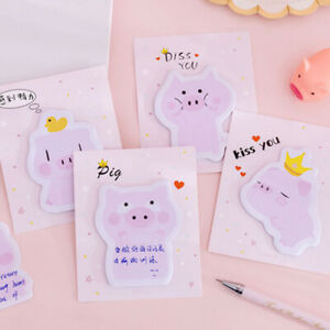 Cute-Pink-Girl-Heart-Pig-Series-Sticky-Notes-Post-Sticker-Diary-Planner-Memo-HOT