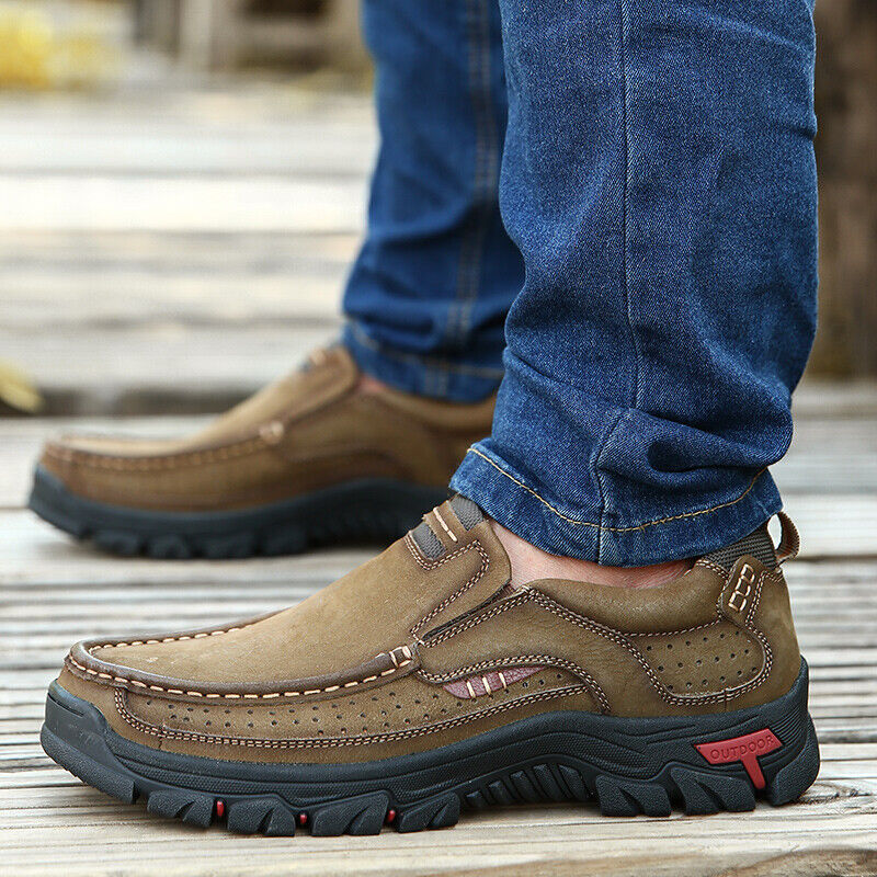 Genuine Leather shoes Men Cow Leather Casual shoes Male Outdoor High Quality Men